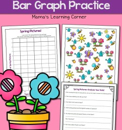 Spring Picture Bar Graph Worksheets - Mamas Learning Corner [ 1500 x 1000 Pixel ]