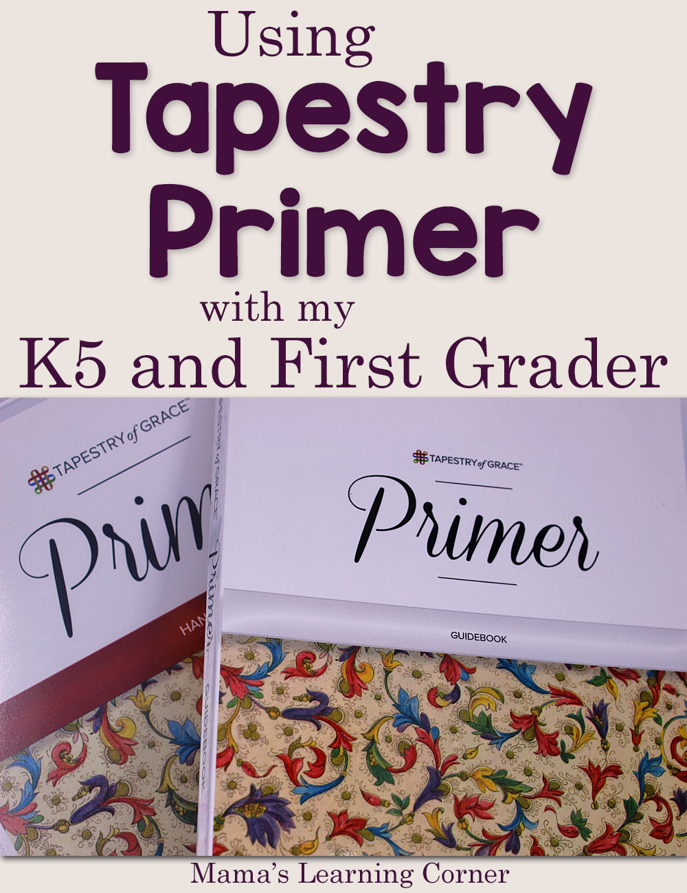 Using Tapestry of Grace Primer with My K5 and First Grader