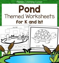 Pond Worksheets for Kindergarten and First Grade - Mamas Learning Corner [ 1152 x 1152 Pixel ]