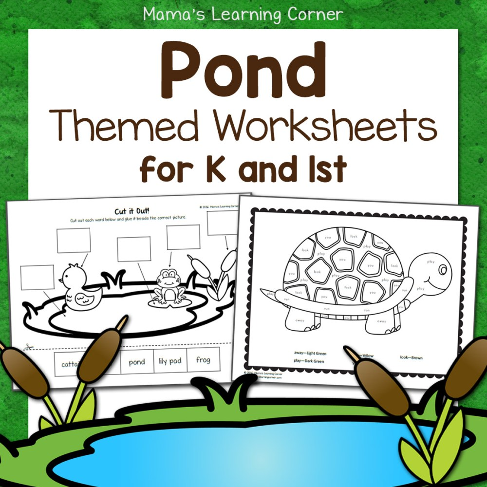 medium resolution of Pond Worksheets for Kindergarten and First Grade - Mamas Learning Corner