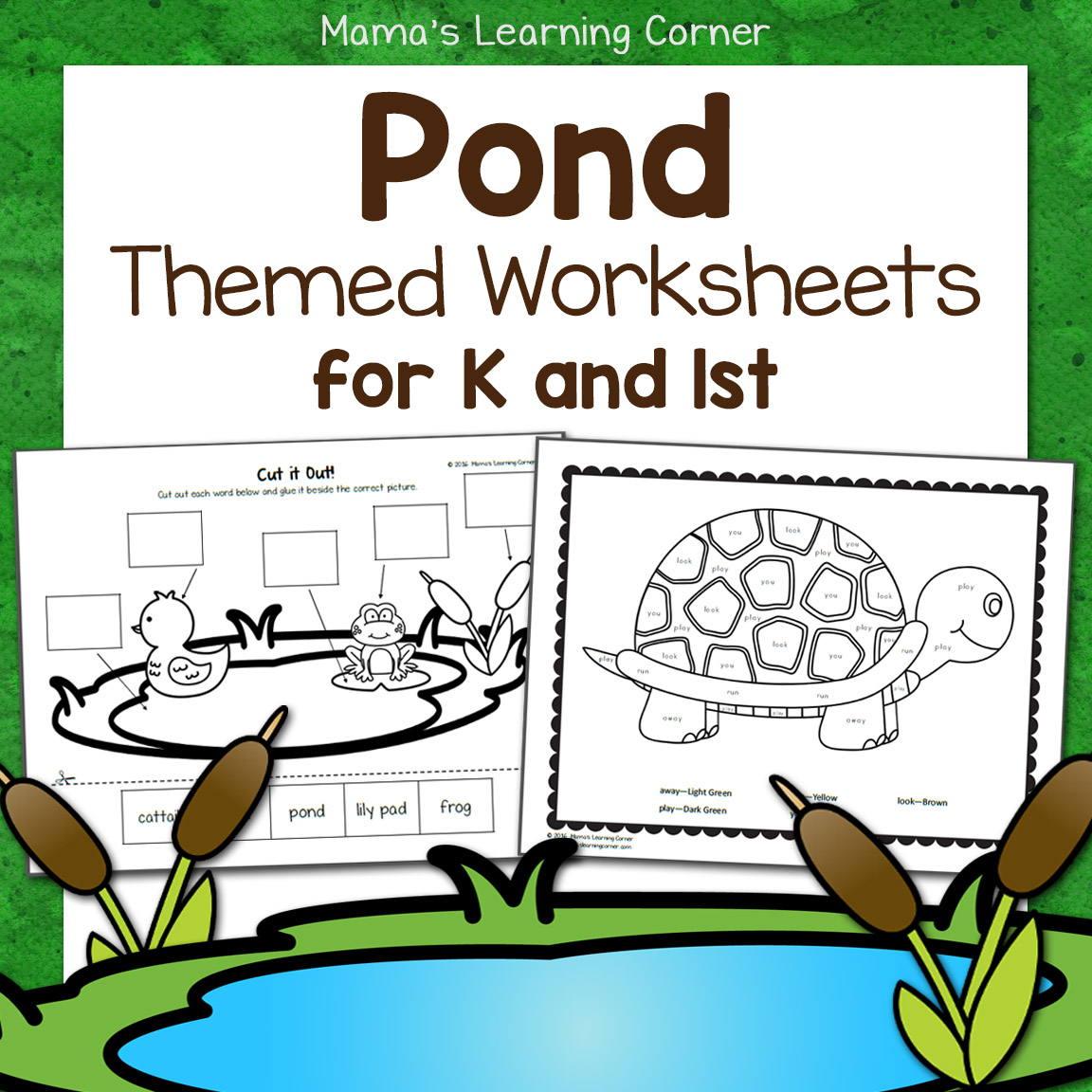 hight resolution of Pond Worksheets for Kindergarten and First Grade - Mamas Learning Corner