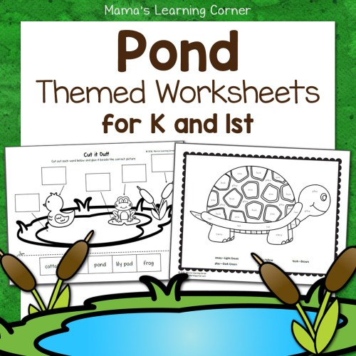 small resolution of Pond Worksheets for Kindergarten and First Grade - Mamas Learning Corner