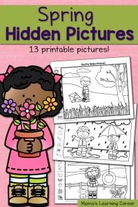 Find It! Spring Hidden Picture Worksheets