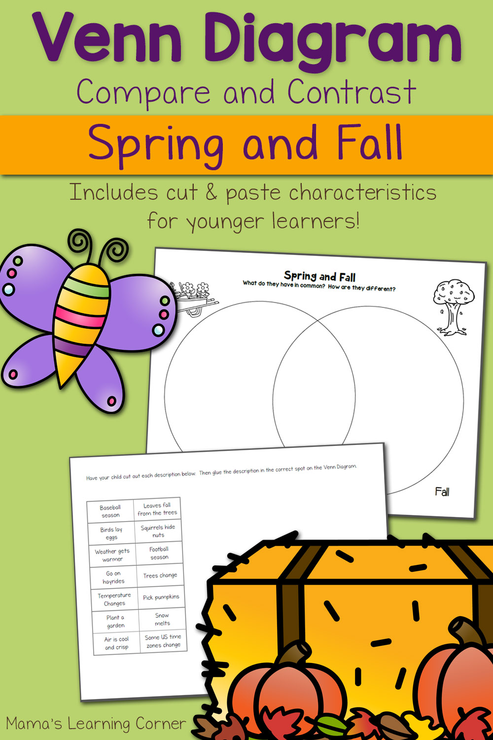hight resolution of Spring and Fall Venn Diagram Worksheet - Mamas Learning Corner