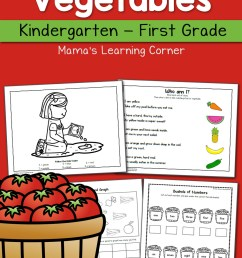 Fruit and Vegetable Worksheets for Kindergarten and First Grade - Mamas  Learning Corner [ 1500 x 1000 Pixel ]