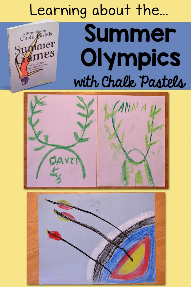 Learning about the Summer Olympics Chalk Pastels