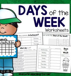 Days of the Week Worksheets - Mamas Learning Corner [ 1152 x 1152 Pixel ]