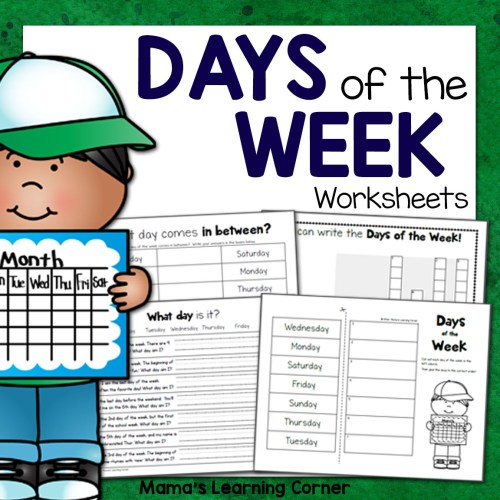 small resolution of Days of the Week Worksheets - Mamas Learning Corner
