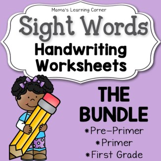 Handwriting Worksheets for Kids: Dolch Words Bundle
