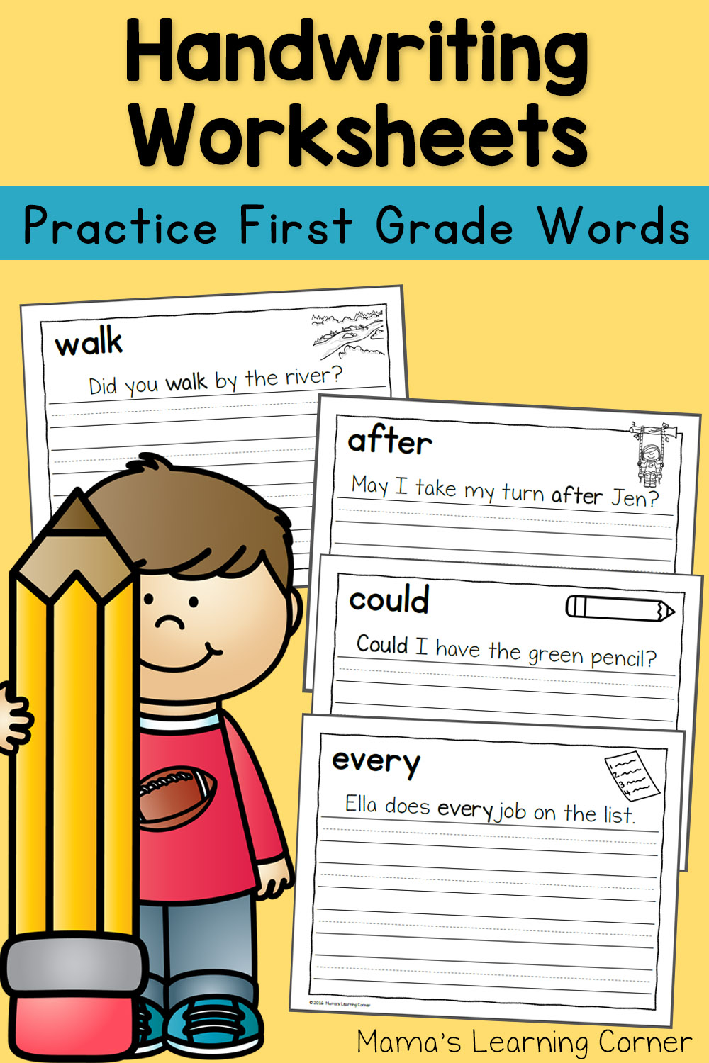 Handwriting Worksheets For Kids Dolch First Grade Words