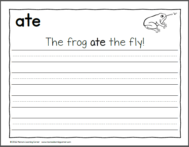 Handwriting Worksheets For Kids Dolch Primer Words