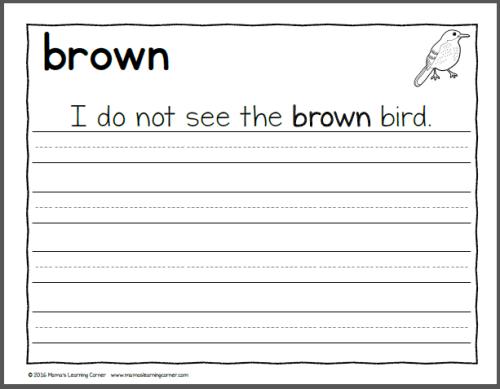 Handwriting Worksheets for Kids: Primer Sentences