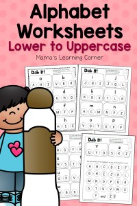 Dab It! Alphabet Worksheets – Match Lower and Uppercase Letters