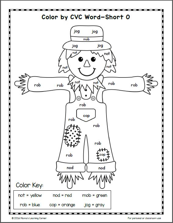 Fall Color Number Pages Kindergarten