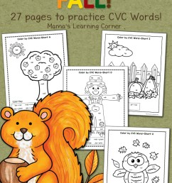 Fall Color By CVC Words Worksheet Packet with a free download! - Mamas  Learning Corner [ 1500 x 1000 Pixel ]