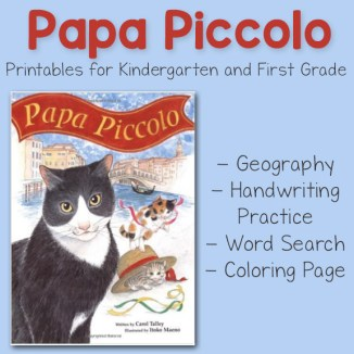 Papa Piccolo Printables for Kindergarten and First Grade