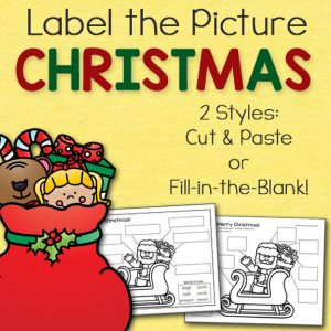 Christmas Label the Picture Pages