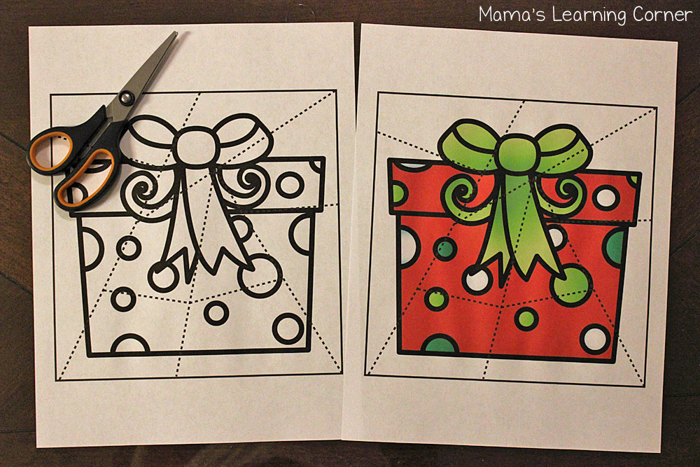 Christmas Fun Pages - Jigsaw Puzzles in Color or Black and white