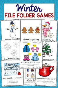 Winter File Folder Games – 10 Learning Activities