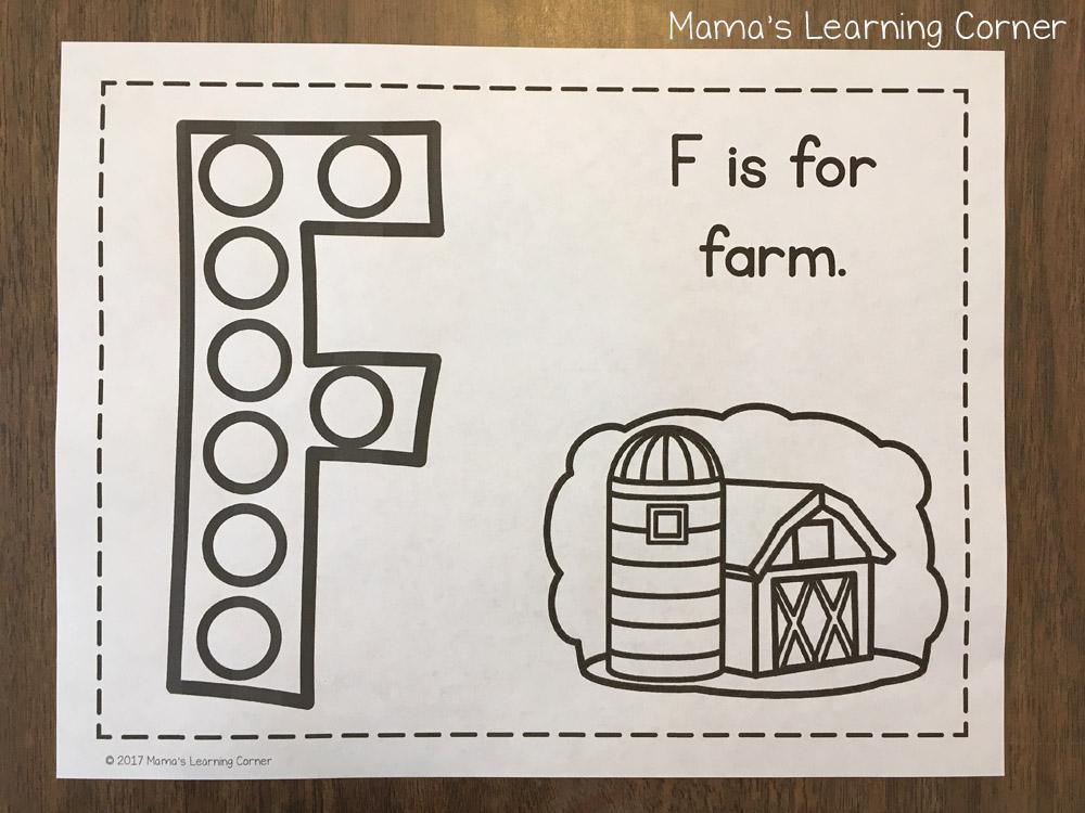 Alphabet Do a Dot Pages Letter F