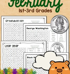 February Word Search Packet - Mamas Learning Corner [ 1500 x 1000 Pixel ]