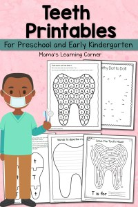 Teeth Printables for Preschool and Kindergarten