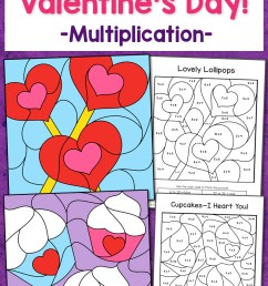 Valentine's Day Color By Number Multiplication Worksheets - Mamas Learning  Corner [ 1500 x 1000 Pixel ]