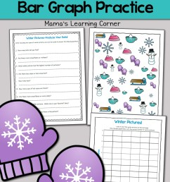 Winter Bar Graph Worksheets - Mamas Learning Corner [ 1500 x 1000 Pixel ]