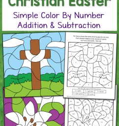 Christian Easter Color By Number Worksheets - Mamas Learning Corner [ 1500 x 1000 Pixel ]