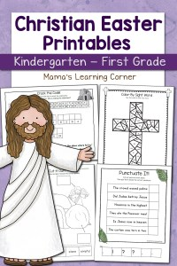 Christian Easter Worksheets for Kindergarten and First Grade