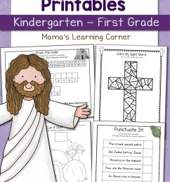 Christian Easter Worksheets for Kindergarten and First Grade - Mamas  Learning Corner [ 1500 x 1000 Pixel ]