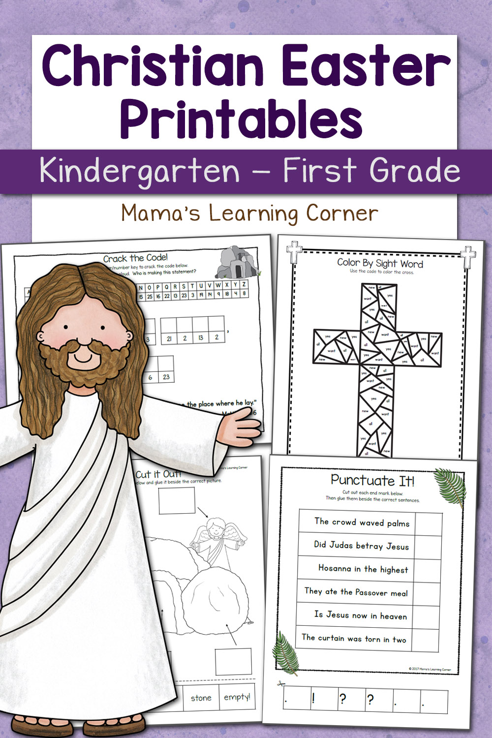 medium resolution of Christian Easter Worksheets for Kindergarten and First Grade - Mamas  Learning Corner