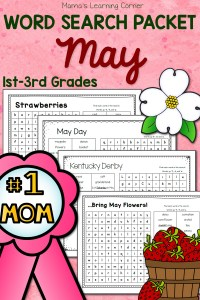 May Word Search Packet