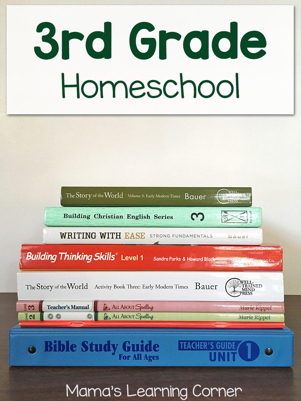 hight resolution of Third Grade Homeschool Curriculum Plans for 2017-2018 - Mamas Learning  Corner