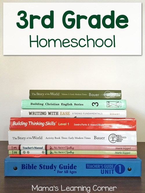 small resolution of Third Grade Homeschool Curriculum Plans for 2017-2018 - Mamas Learning  Corner