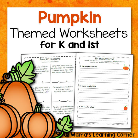 picture about Free Pumpkin Worksheets Printable known as Pumpkin Worksheets for Kindergarten and Initial Quality - Mamas