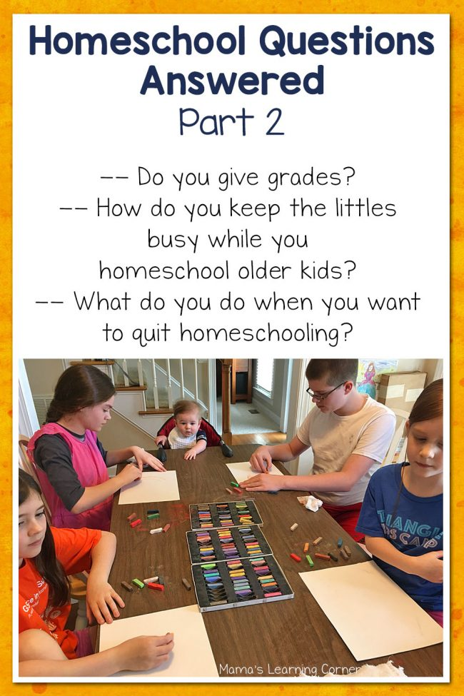 Homeschool Questions Answered Part 2