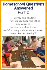 More Homeschool Questions Answered! Part 2