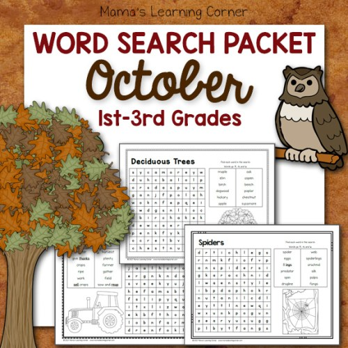 October Word Searches