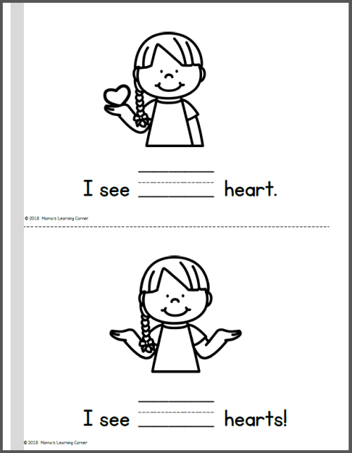 I Can Count Hearts Interactive Counting Booklet
