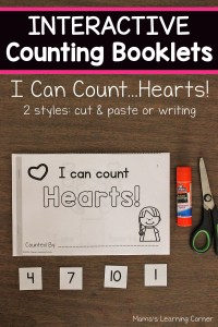 I Can Count Hearts Interactive Counting Booklets
