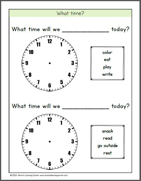 Calendar Notebook for Kindergarten First Grade