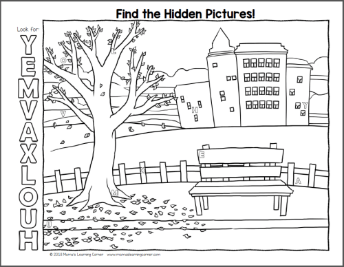 Fall Hidden Pictures