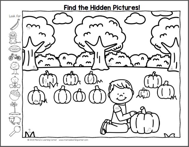 Fall Hidden Pictures