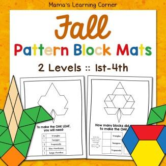 Fall Pattern Block Mats 2 Levels