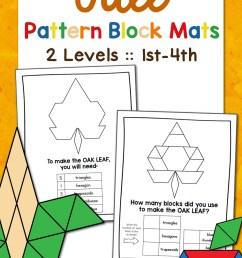 Fall Pattern Block Mats - Mamas Learning Corner [ 1500 x 1000 Pixel ]