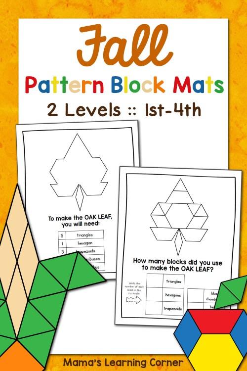 small resolution of Fall Pattern Block Mats - Mamas Learning Corner
