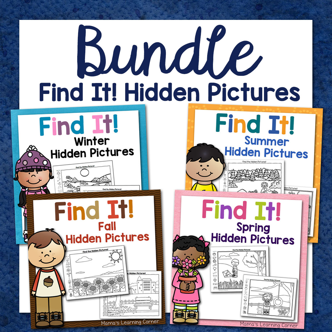 Hidden Picture Worksheets Bundle