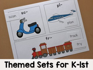 Themed Worksheets K-1st All Access