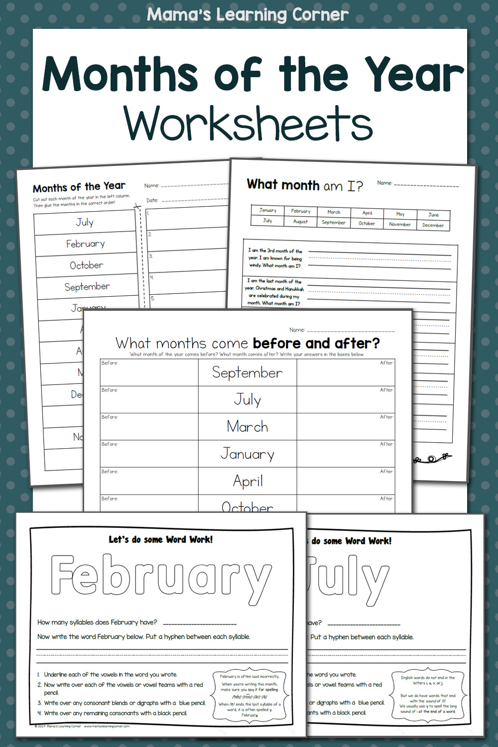 hight resolution of Months of the Year Worksheets - Mamas Learning Corner